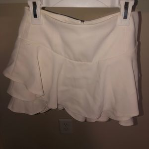 Ruffled skirt with shorts underneath